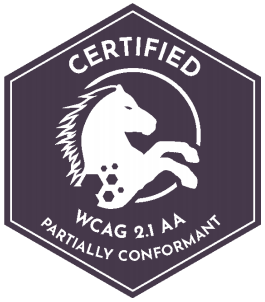 Certified WCAG 2.1AA Partially Conformant